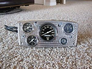 1950 Vintage Stewart Warner Gauge Dash Panel Instrument Cluster Hot Rat Rod Scta