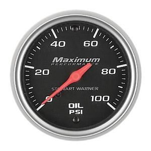 "Stewart Warner Performance 2 1 16"" Fuel Pressure Gauge 100 PSI 114518"