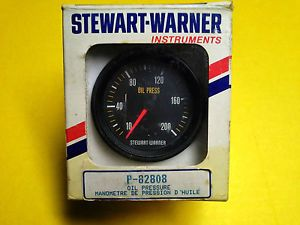 Stewart Warner 2 5 8 Oil Pressure Gauge Track Force Guage Hot Rod Racing