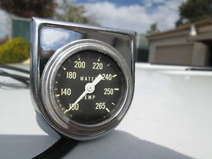 1960s Stewart Warner 2'' Water Temp Gauge with Sende Panel Made in USA