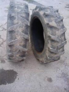Two Used 11 2x24 Firestone Farm Tractor Tires