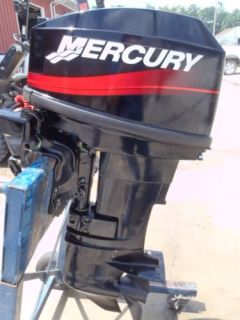 "Used 2001 Mercury 20M 20HP 2 Stroke Tiller Outboard Boat Motor 15"" Shaft Clean"