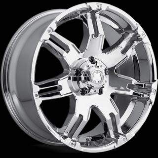 17x9 Chrome Ultra Gauntlet 238 Wheels 5x5 5 20 Dodge Durango RAM 1500 Dakota