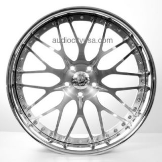 24 Forged 3pc AC 313 GM Wheels and Tires for Camaro Range Rover Mercedes Rims