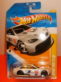 2012 Hot Wheels 1 64 BMW M3 GT2 E92 V8 Race Car White Black Wheels 5 50 005 247
