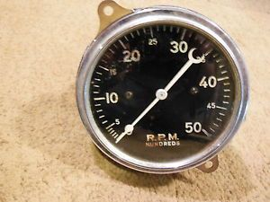 Vintage Stewart Warner 5K RPM Tach Gauge Instrument Chris Craft SW Hot Rod Scta
