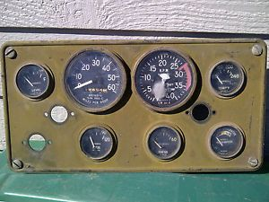 Vintage Stewart Warner Army Gauge Panel Instrument Cluster Speedometer Hot Rod