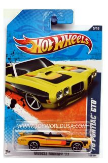 2011 Hot Wheels Muscle Mania 105 '70 Pontiac GTO