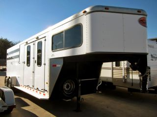 "2004 Sundowner Sunlite Stampede SL 28' 6"" Conversion Ready 3 Horse Trailer"
