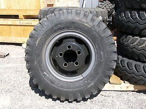 Vintage Dodge Power Wagon Wheels with New Firestone NDT 900 16LT Tires