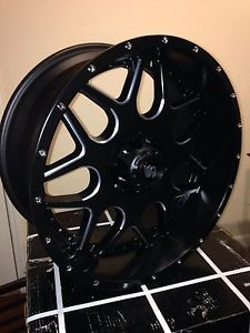 20x12 Black LRG 104 Wheels Rim Ford F250 F350 Superduty Excursion Powerstroke
