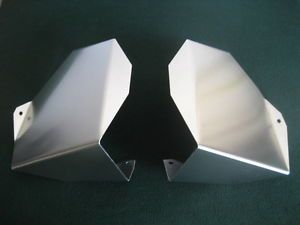 Yamaha Raptor 660 ATV Smooth Satin Finish Aluminum Engine Air Scoops Shrouds