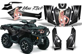 Can Am Outlander 800 1000 R XT 2012 Graphics Kit Creatorx Decals Stickers YRB