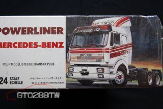 Italeri 1 24 Scale Mercedes Benz 6x4 Powerliner Truck Kit No 786 Mint in Box