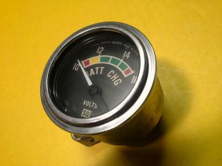 Vintage Stewart Warner Volt Gauge Batt CHG Guage Hot Rod Racing Drag