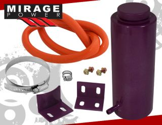 Purple JDM Aluminum Racing Engine Bay Coolant Radiator Overflow Reservoir Tank