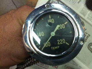 Antique Vintage 1932 Ford Street Rod Temperature Gauge Stewart Warner Style