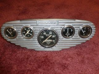Stewart Warner Winged Gauges Champion Dash Panel 1932 Flathead Model B 18