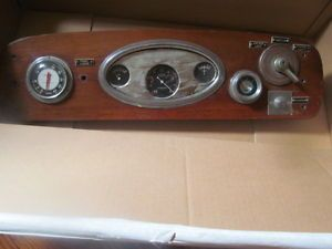 Vintage Boat Gauge Panel Dash Wood Stewart Warner Air Guide Instruments Decor