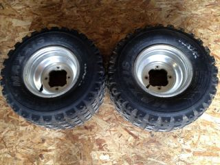 2 2002 Yamaha Raptor 660 Rear Tires Wheels Rim Maxxis RAZR YFZ Good Shape
