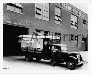 1936 International Harvester Rea Van Truck Sunkist Factory Photo Ref 48285