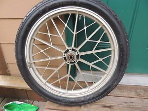 1979 BMW R100RT Front Snowflake Wheel Continental Tire R100 R100S R100RS R80RT
