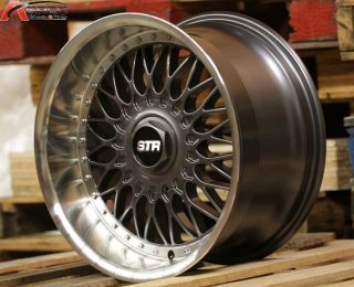 "18"" Str 606 RS Style 5x112 Gun Metal Wheel Fit Audi A4 B4 B5 B6 A5 A6 TT VW Golf"