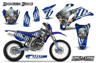 Yamaha WR250F WR450F 2007 2011 Graphics Kit Creatorx Decals DZWBLNP