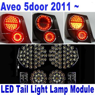 LED Rear Tail Light Lamp Module DIY Full Kit 8pcs for 11 Chevrolet Aveo 5DR