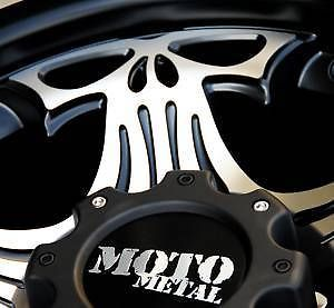 "20"" Black Wheels Tires 6x139 Chevy GMC Nissan 275 55 20 Falken at Moto Skull 909"