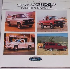 1988 88 Ford Ranger Bronco II Accessories Brochure