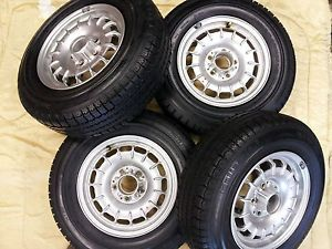 Mercedes W123 Factory Alloy Wheels New with Continental Tires New