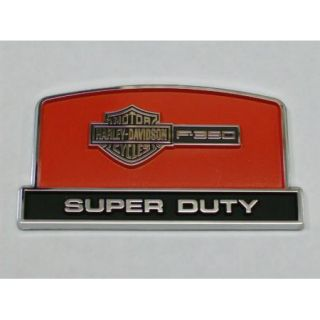 Genuin Ford Parts Super Duty F350 Harley Davidson Console Lid Emblem New