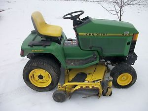 "John Deere 425 All Wheel Steer Lawn Garden Tractor Kawasaki Engine 60"" Deck"