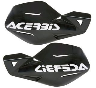 Acerbis Uniko Black Hand Guards Fits Yamaha Raptor YFM 125 350 660 700