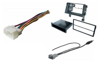 Aftermarket Radio Stereo Single Double DIN Installation Dash Kit Wire Harness