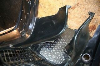 2003 Yamaha Raptor 660 Black Plastic Front Fenders Good Tabs with Graphic