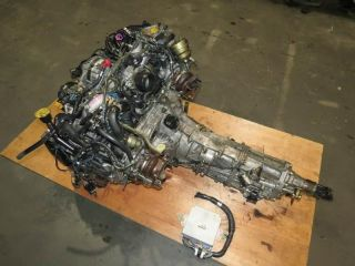 JDM Subaru Legacy GT BH5D EJ20TT 2 0L Twin Turbo Engine 5 Speed M T VF33 VF32