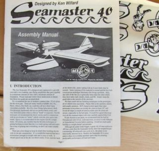Ace Seamaster Radio Control Model Airplane Kit Seaplane Floatplane