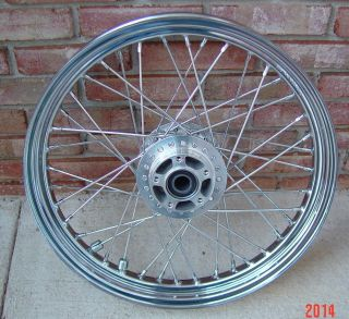 Harley Davidson 19 x 2 50 Chrome Spoke Rim Wheel Dyna 25mm Bearings 19 Inch