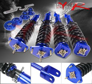 03 07 350Z Z33 G35 V35 Blue Full Adjustable Height Coilovers lowering Spring Kit
