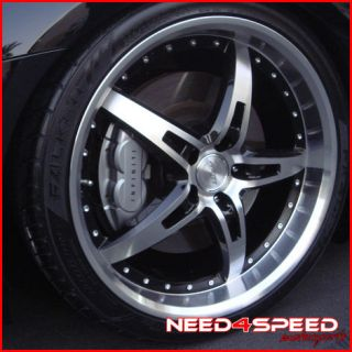 "20"" Nissan 350Z MRR GT5 Black Staggered Rims Wheels"