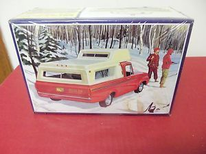 1 25 AMT 1963 Ford F100 camper Pick Up Truck Box and Parts Includes camper Top