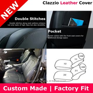 Clazzio Custom Perfect Fit Leather Seat Cover Black 03 06 Nissan 350Z