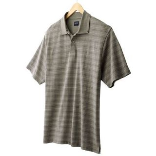 NWT Arrow USA 1851 Striped Soft Silky Premium Cotton Polo Casual Mens Shirt