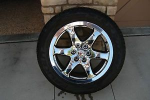 Four 20 inch Chrome Rims and Four Falken Tires Off 2009 Ford Expedition
