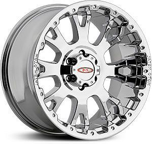 "17"" Chrome Moto Metal 956 Rims Tires 8x165 Hummer H2 Lt 315 70 17 Falken At"