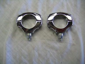 Harley Davidson Chrome Front Turn Signal Relocation Kit Parts Lot
