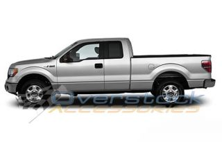 "2004 2013 Ford F 150 Super Cab 5"" Stainless Steel Oval Nerf Bars Side Step Rail"
