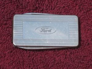 Ford Folding Pen Knife Tool Money Clip with Classic Ford Oval Emblem Badge